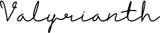 Valyrianth Font