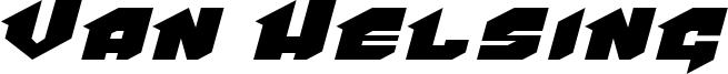 Van Helsing Font