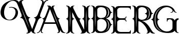 Vanberg Font
