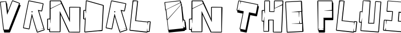 Vandal On The Fluid Font