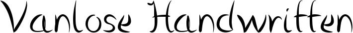 Vanlose Handwritten Font