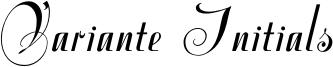 Variante Initials Font