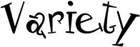 Variety Font