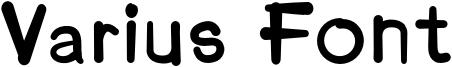 Varius Font Font