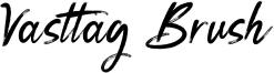 Vasttag Brush Font