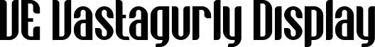 VE Vastagurly Display Font