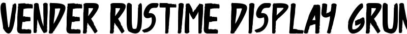 Vender Rustime Display Grunge Font