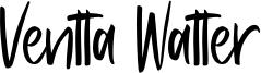 Ventta Watter Font