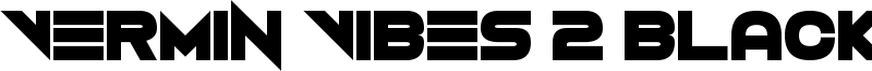 Vermin Vibes 2 Black Font