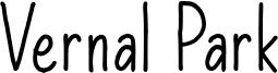Vernal Park Font