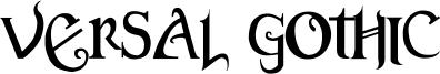 Versal Gothic Font