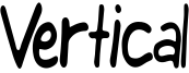 Vertical Font