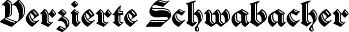 Verzierte Schwabacher Font