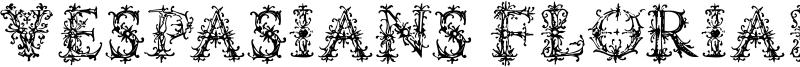 Vespasians Florials Font