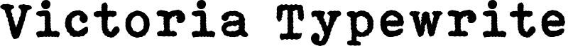 Victoria Typewriter Font