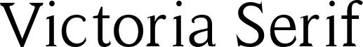 Victoria Serif Font