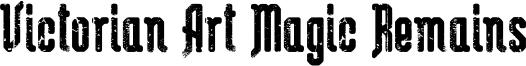 Victorian Art Magic Remains Font