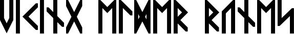 Viking Elder Runes Font