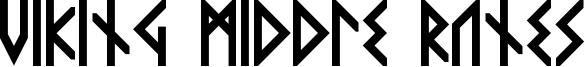Viking Middle Runes Font