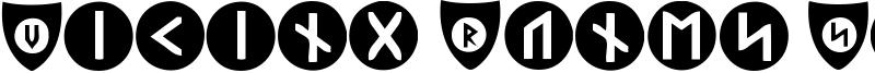 Viking Runes Shields Font