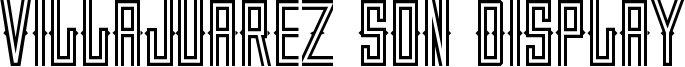 Villajuarez Son Display Font
