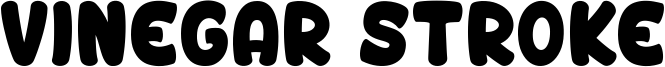 Vinegar Stroke Font