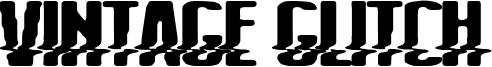 Vintage Glitch Font