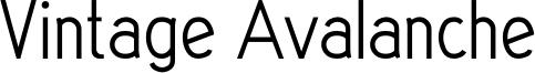 Vintage Avalanche Font