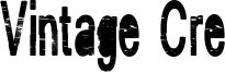 Vintage Cre Font