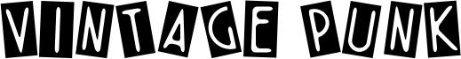 Vintage Punk Font