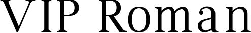 VIP Roman Font