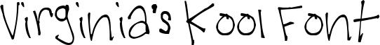 Virginia's Kool Font Font