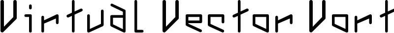 Virtual Vector Vortex Font