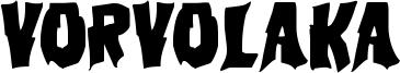 Vorvolaka Font