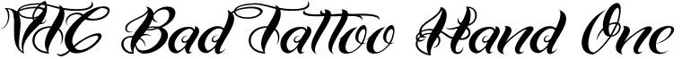 VTC Bad Tattoo Hand One Font