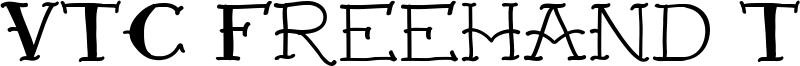 VTC Freehand Tattoo One Font