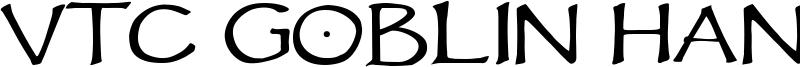 VTC Goblin Hand Font