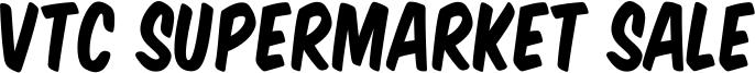 VTC Supermarket Sale Font