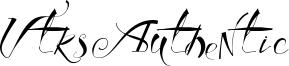 Vtks Authentic Font