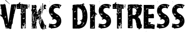 VTKS Distress Font