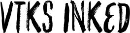 VTKS Inked Font