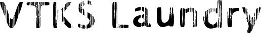 VTKS Laundry Font