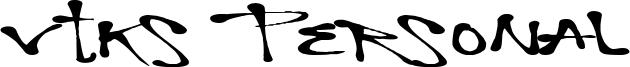 Vtks Personal Font
