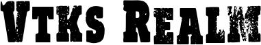 Vtks Realm Font