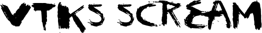 Vtks Scream Font
