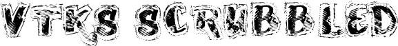 VTKS Scrubbled Font