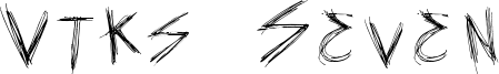 Vtks Seven Font