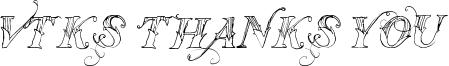 Vtks Thanks You Font