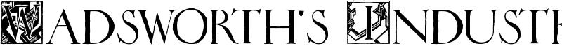 Wadsworth's Industria Font