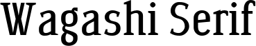 Wagashi Serif Font